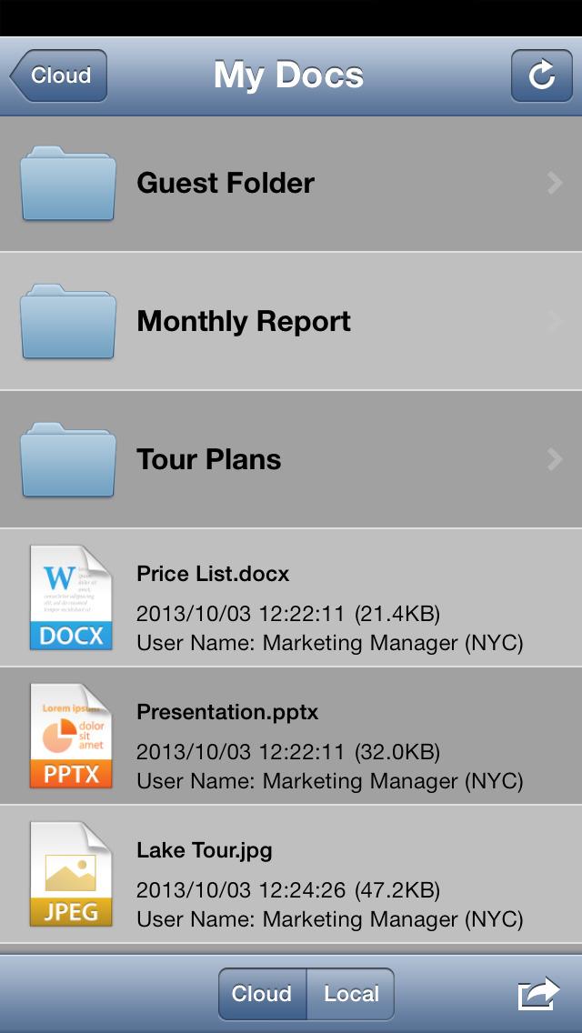 Cloud Portal Office Mobile screenshot 1