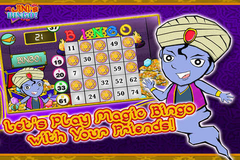 Jini's Bingo Free - Tap the fortune ball to win th - náhled