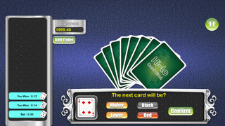 A1 HiLo Card Rivals Mania Pro - world casino gambling card game screenshot 1