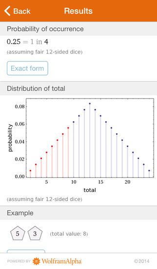 Wolfram Gaming Odds Reference App screenshot 4