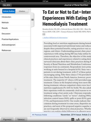 Journal of Renal Nutrition screenshot 7