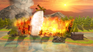 Airplane Firefighter Simulator - eXtreme 3D Landing Firefighting Emergency Rescue Flying Games screenshot 1