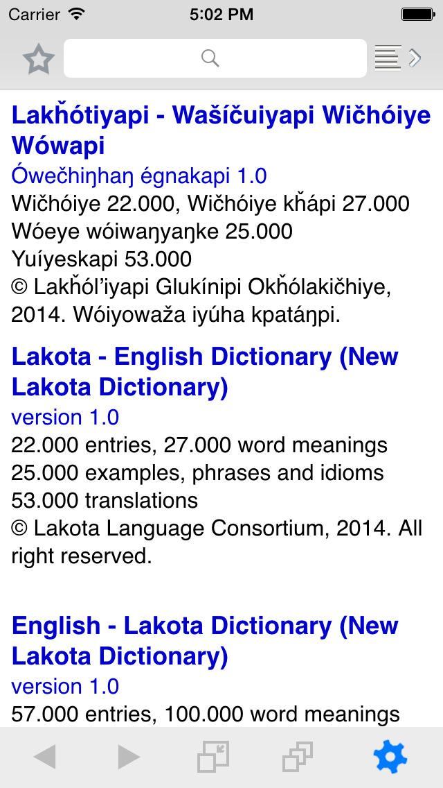 New Lakota Dictionary - Mobile screenshot 5
