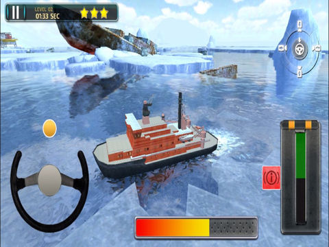 3D Icebreaker Parking PRO - Full Boat Driving Simulation Race Version screenshot 8