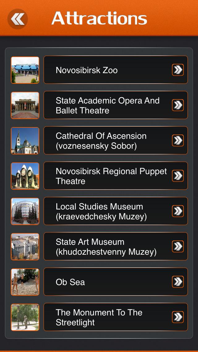 Novosibirsk City Offline Travel Guide screenshot 3