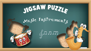 Free Music Instruments Cartoon Jigsaw Puzzle screenshot 1