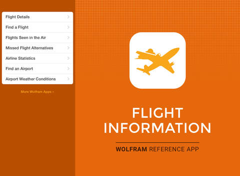 Wolfram Flight Information Reference App screenshot 6