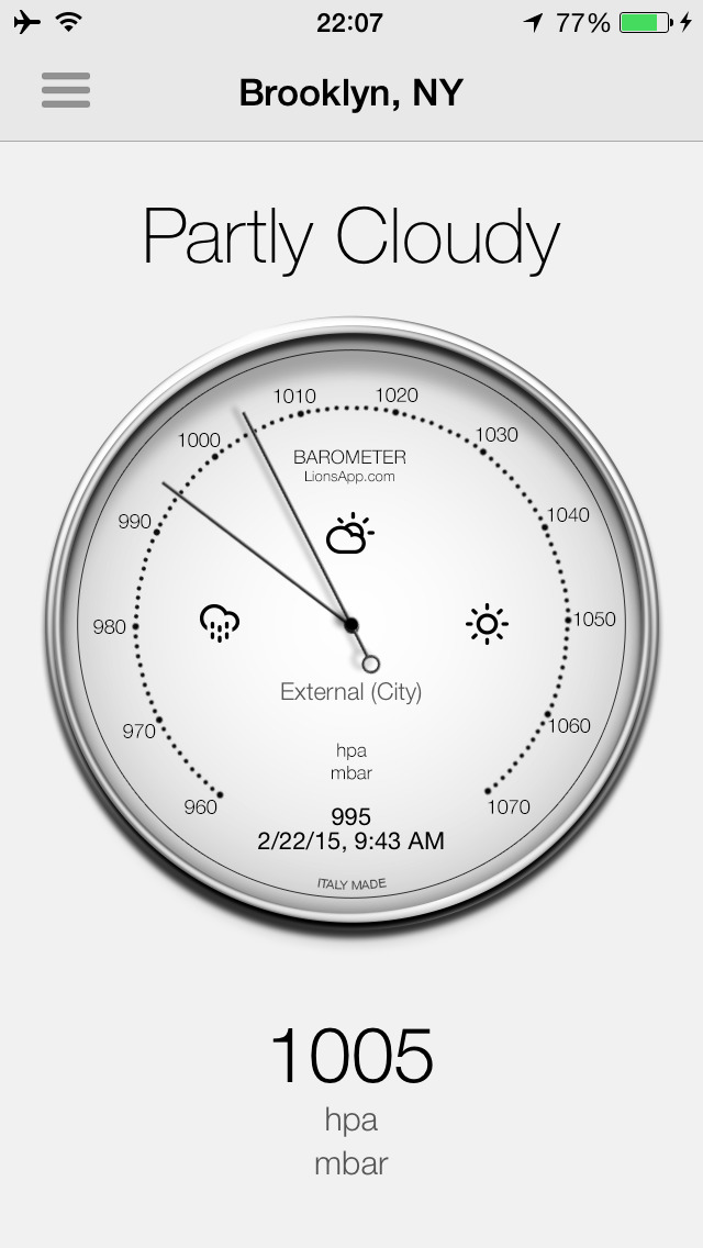 Barometer-Atmospheric pressure screenshot 1