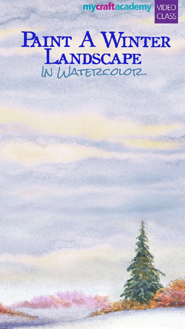 Paint a Winter Landscape in Watercolor screenshot 1