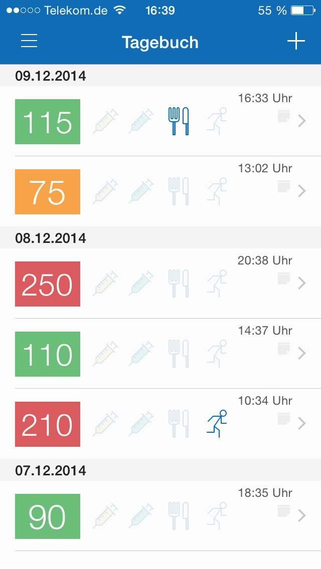 meinDiabetes, die Diabetes App screenshot 2