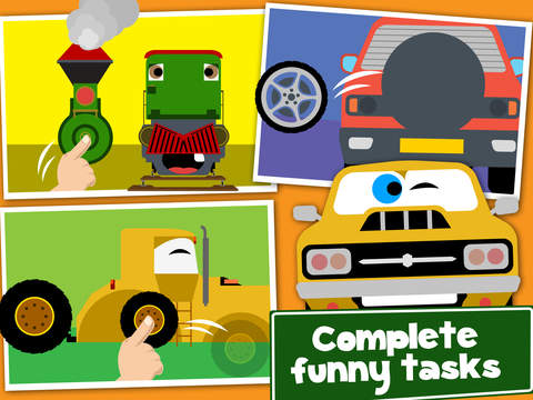 Cars, Trains and Planes Cartoon Puzzle Games Pro screenshot 9