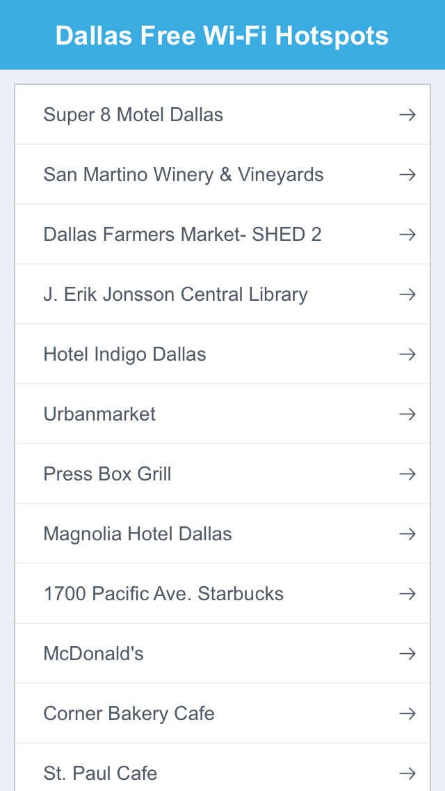 Dallas City Free Wi-Fi Hotspots screenshot 2