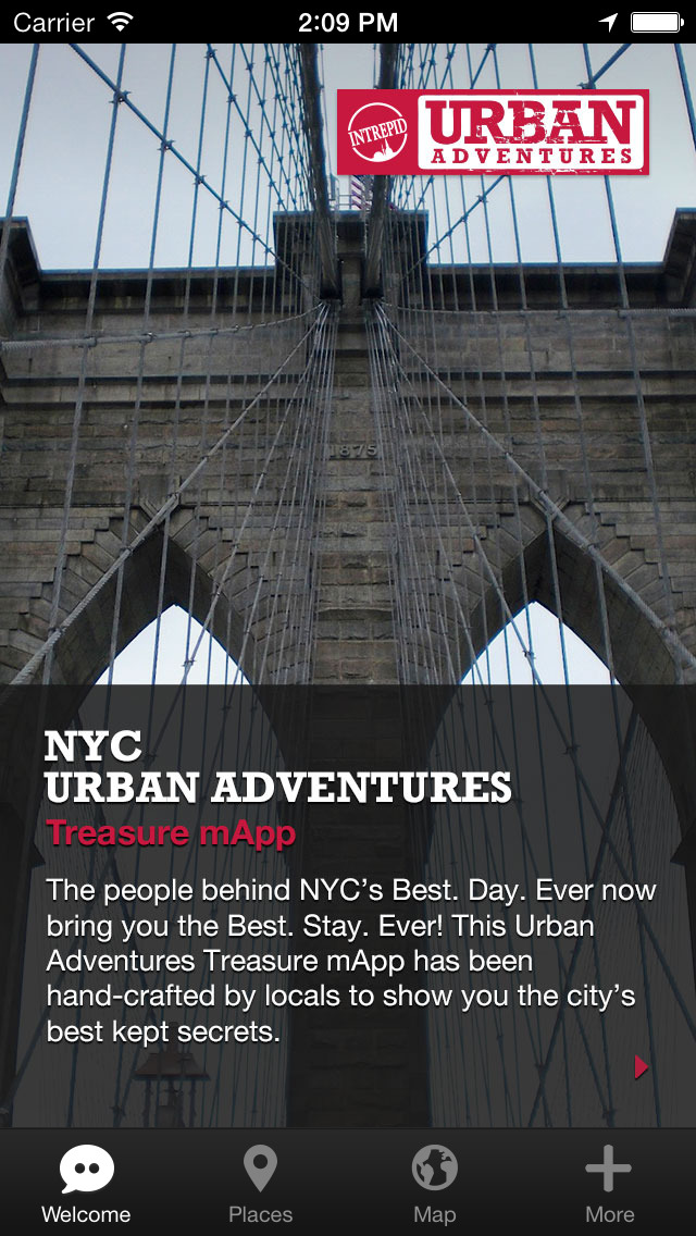 NYC Urban Adventures - Travel Guide Treasure mApp screenshot 1
