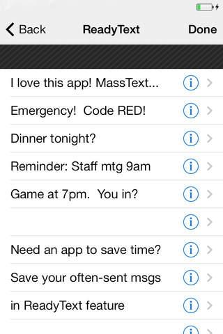 Mass Text Message - náhled