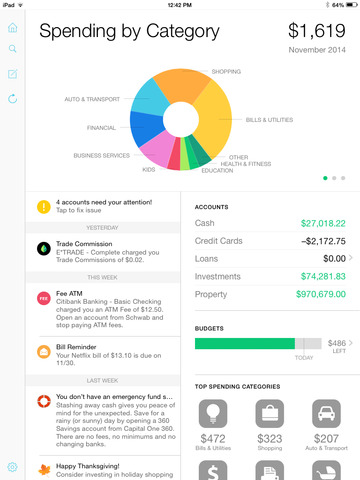 Mint Personal Finance Goes Universal | 148Apps