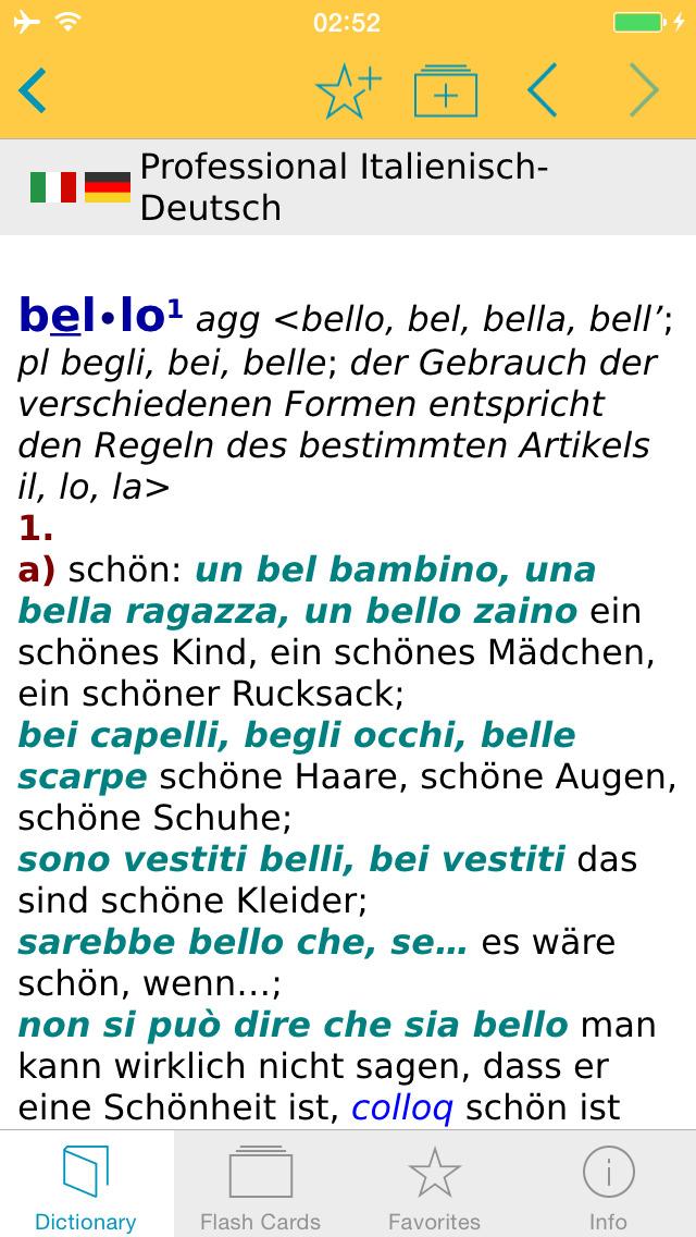German Italian XL Dictionary screenshot 5