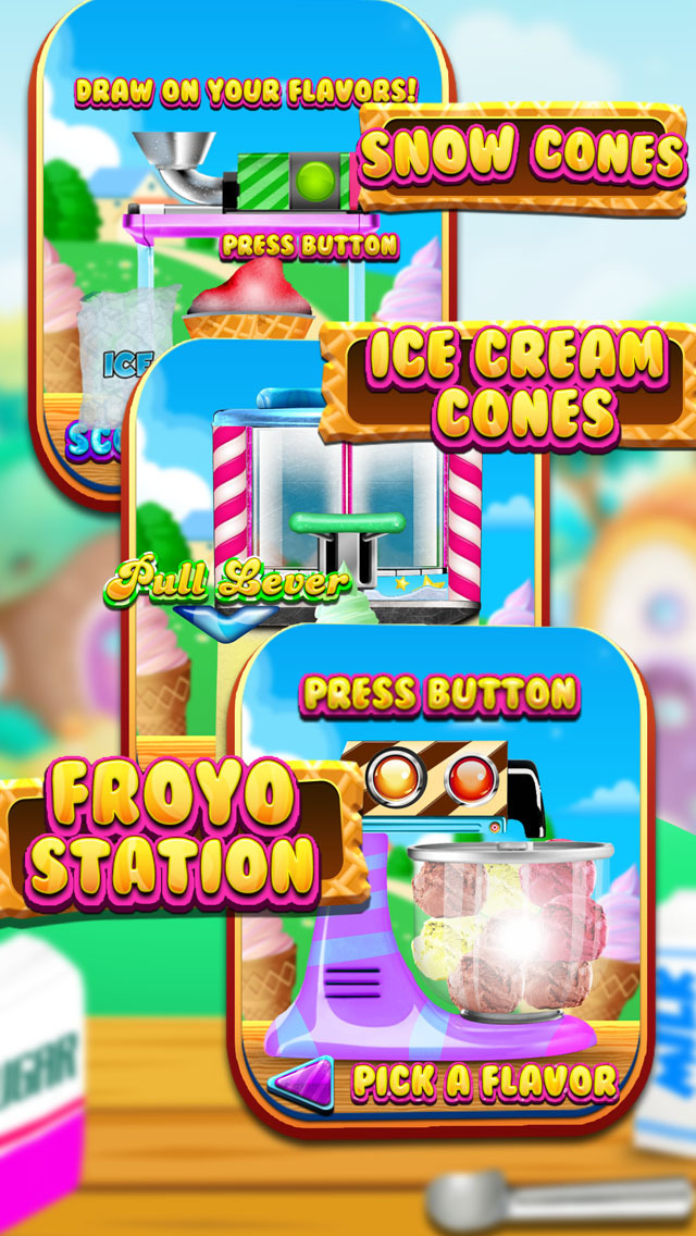 """ A Froyo King Mogul – Frozen Yogurt Customizer Dessert Maker Mania Free screenshot 3"