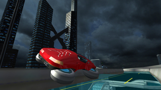 Hover Car Parking Simulator - Flying Hoverboard Car City Racing Game FREE screenshot 5