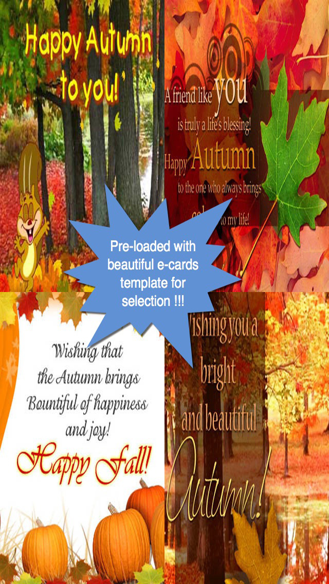 Happy Autumn Greeting Cards screenshot 2