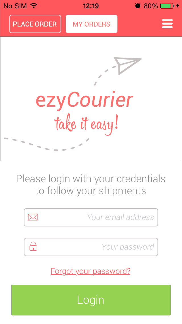ezyCourier screenshot 2
