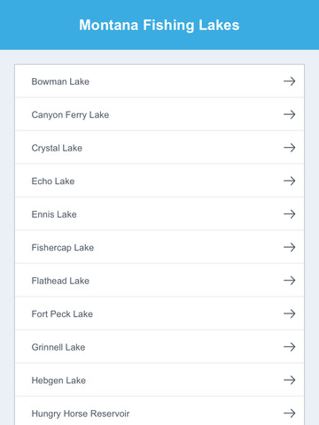 Montana Fishing Lakes screenshot 7