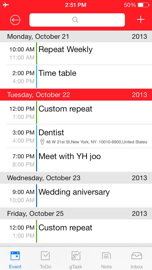 Awesome Calendar screenshot 2