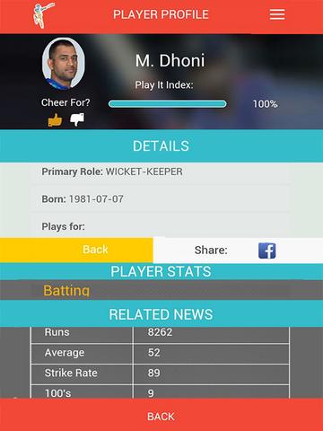 ICC Cricket World Cup 2015 Fantasy Cricket screenshot 9
