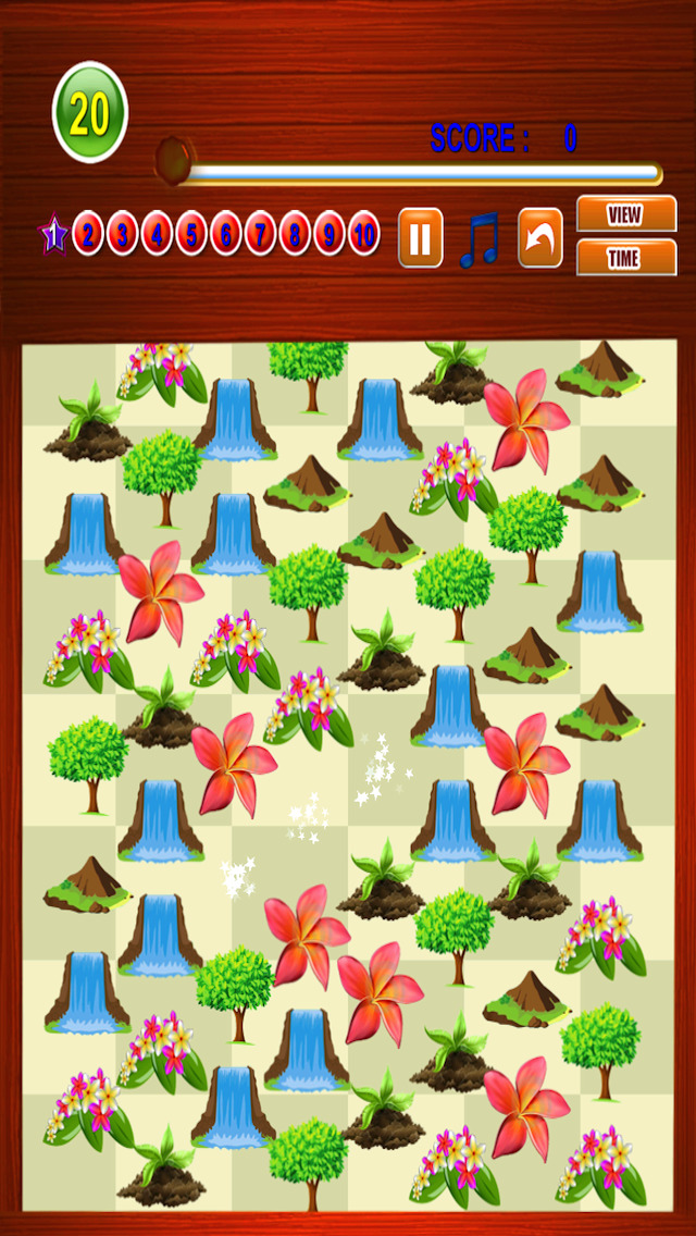 Free Match Game Nature Match Three screenshot 3