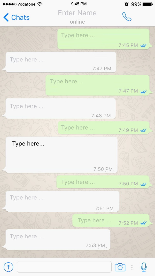 Fake chat app ios