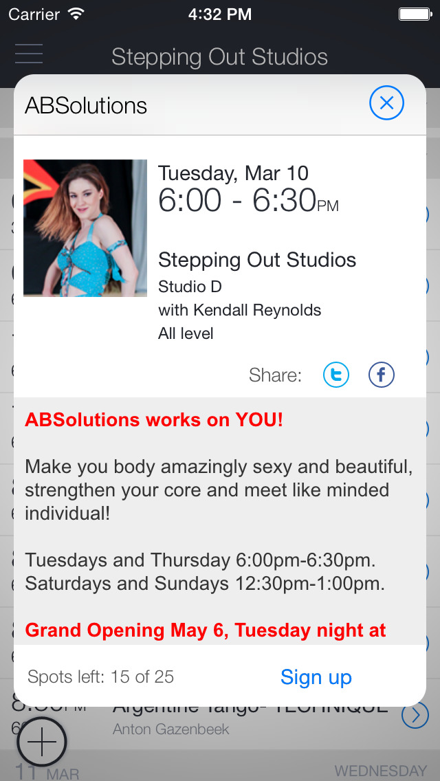 Stepping Out Studios Mobile screenshot 2