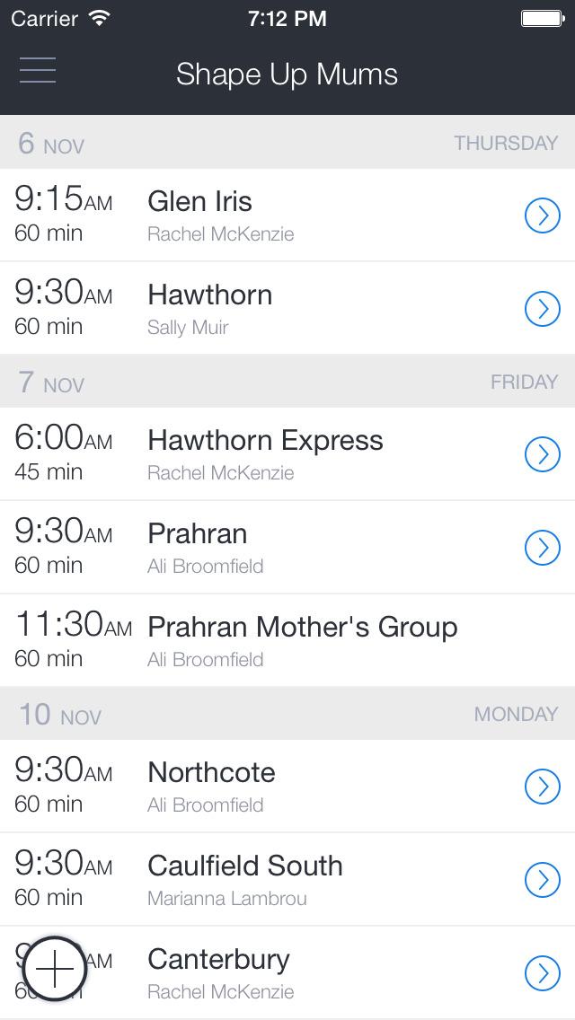Shape Up Mums Bookings screenshot 1