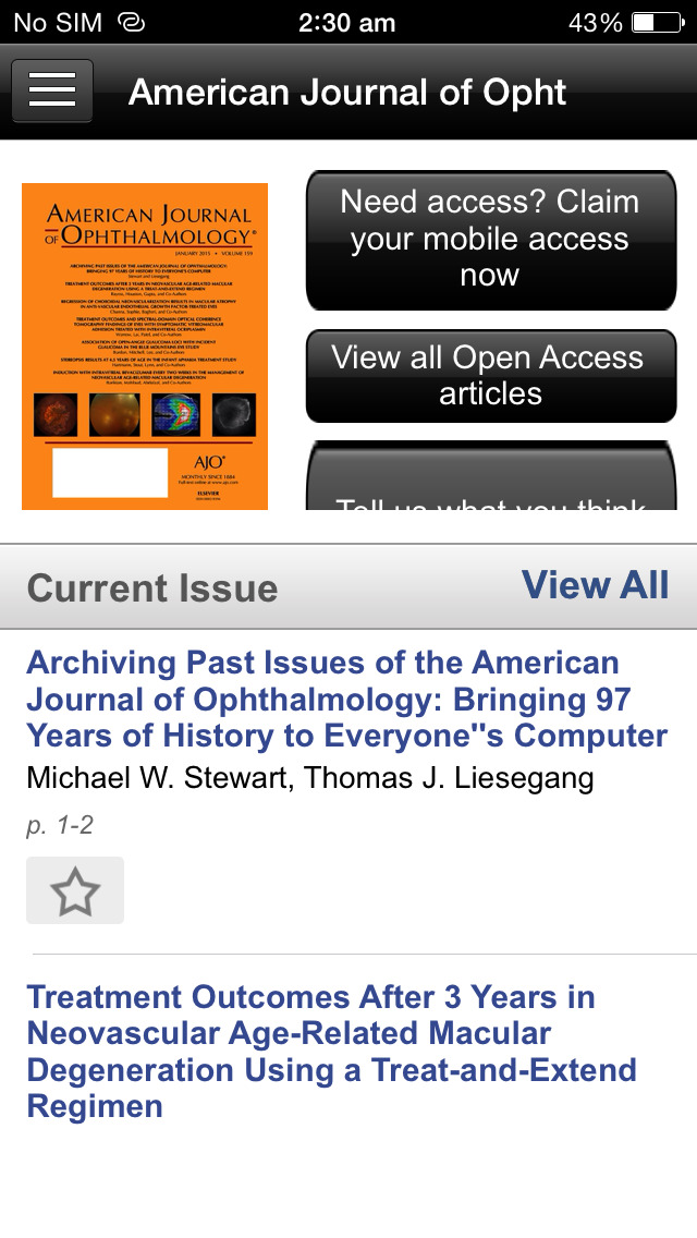 American Journal of Ophthalmology screenshot 3