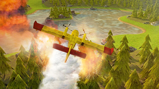 Airplane Firefighter Simulator - eXtreme 3D Landing Firefighting Emergency Rescue Flying Games screenshot 3