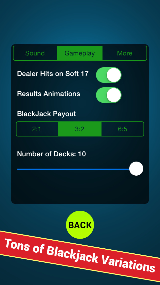 Blackjack Anywhere - The Best Real Blackjack Game for your Apple Watch or your iPhone. screenshot 5