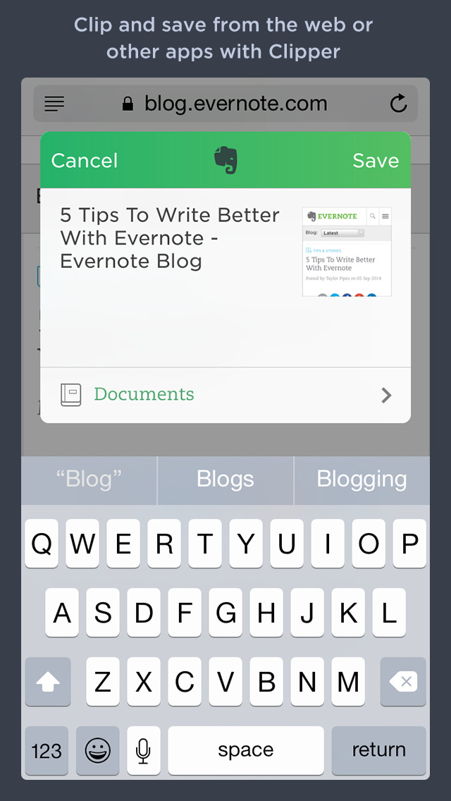 Evernote screenshot 3