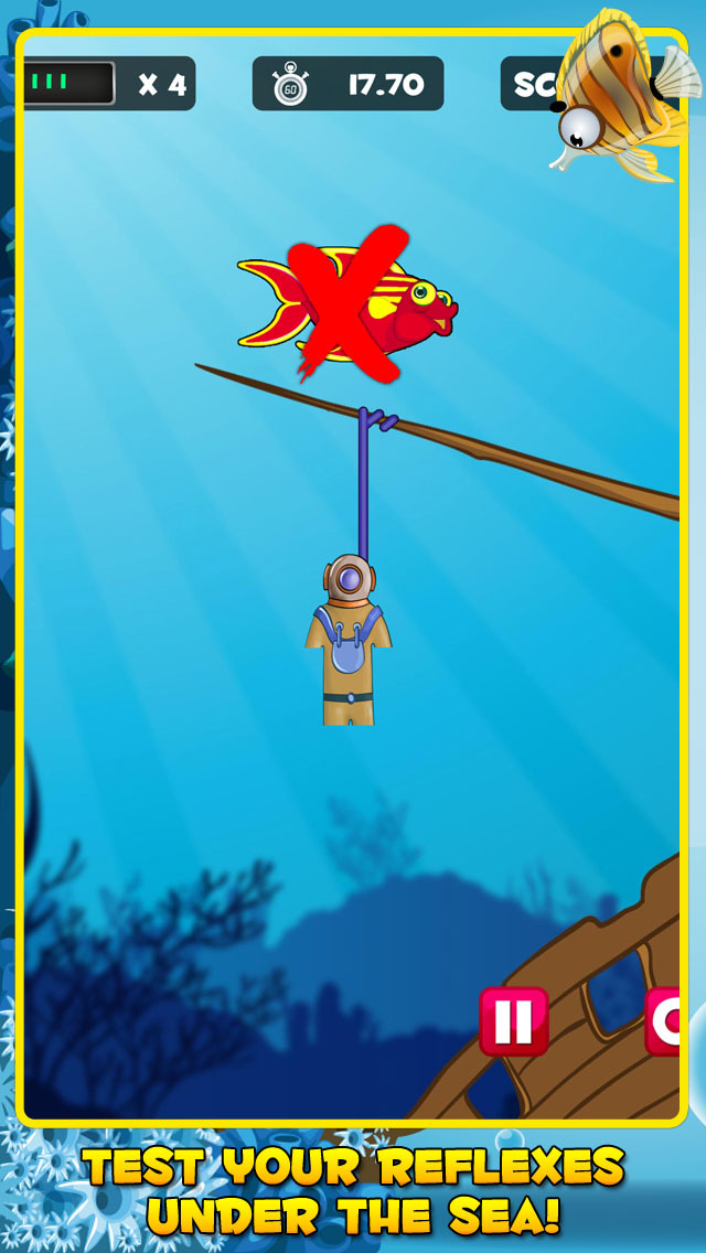 One Fish, Two Fish, HANGED! - A hangman classic screenshot 2