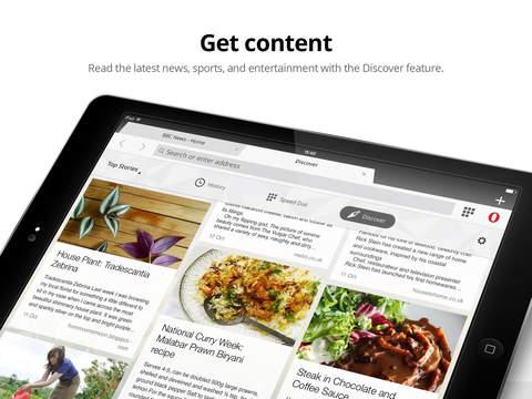 Opera Mini web browser screenshot 8