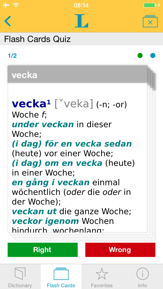 German - Swedish Dictionary screenshot 3