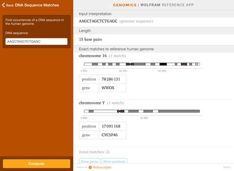 Wolfram Genomics Reference App screenshot 7