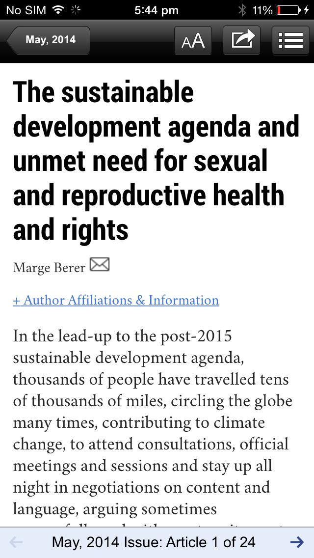 Reproductive Health Matters screenshot 3