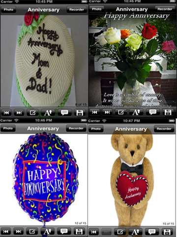 The Ultimate Anniversary eCards with Photo Editor.Customize and send anniversary eCards with text and voice greeting messages screenshot 8