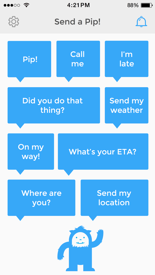 Pip – messaging made easy screenshot 1