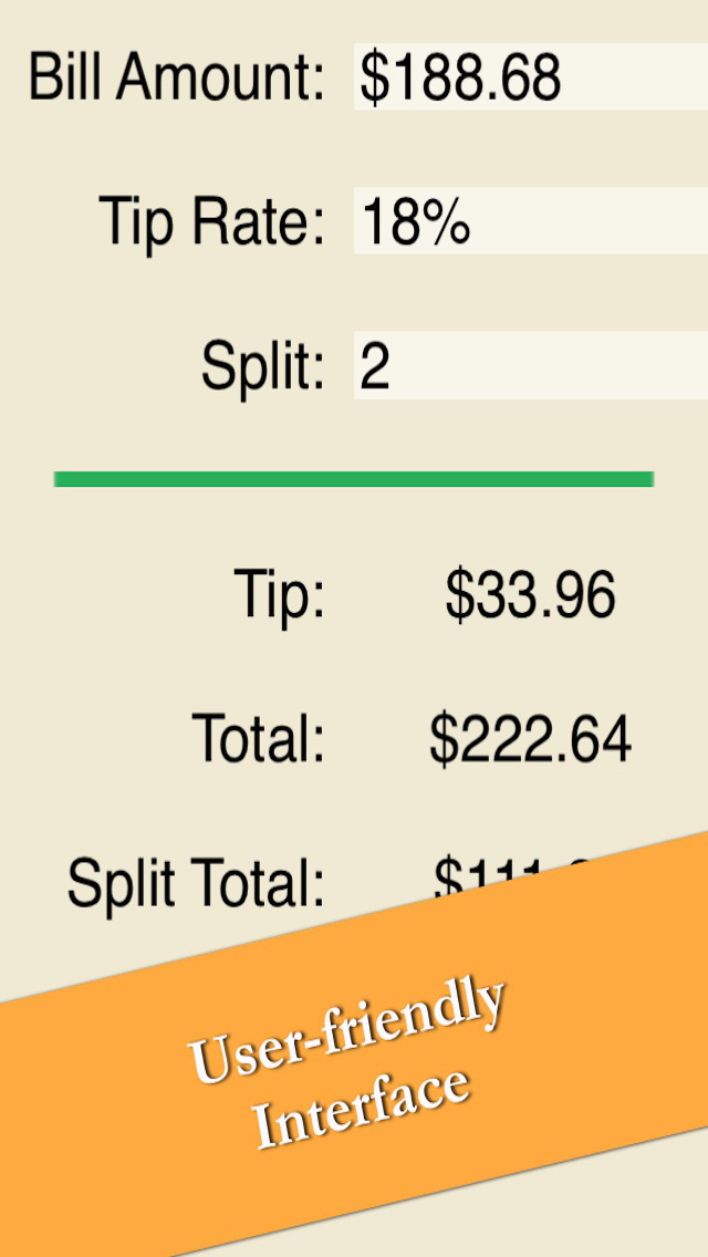 Calculate Tip - Easy Restaurant Gratuity Calculator Free screenshot 2
