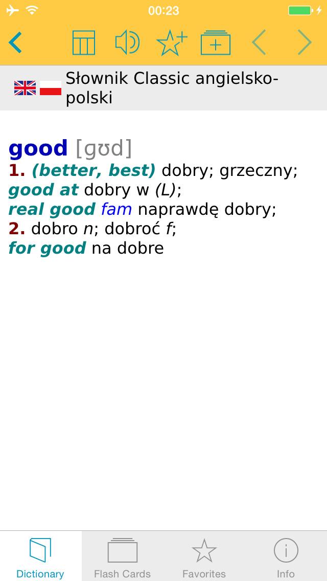 Słownik CLASSIC angielsko<->polski screenshot 1