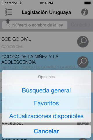 Legislación Uruguaya - náhled
