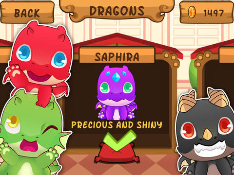 My Virtual Dragon - Pocket Pet Monster with Mini Games for Kids screenshot #2