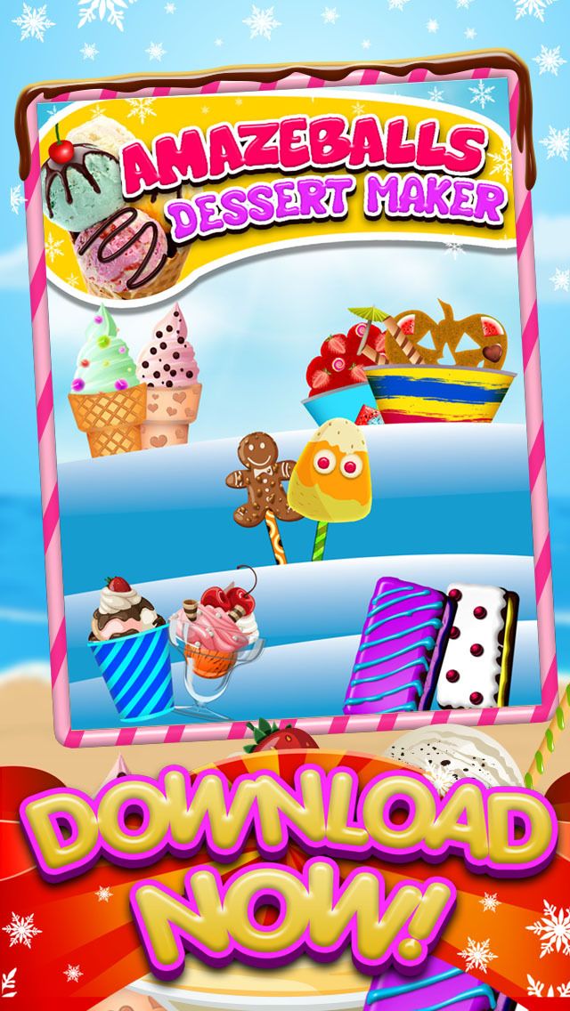 A AmazeBalls Dessert Maker Ice-Cream Creator - Cones, Sandwiches & Sundaes screenshot 1