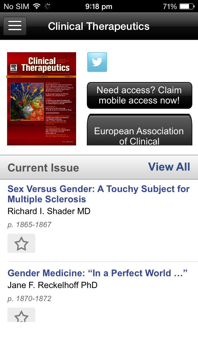 Clinical Therapeutics screenshot 3