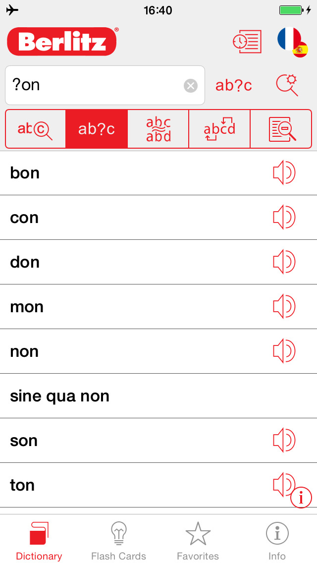 French - Spanish Berlitz Basic Talking Dictionary screenshot 4