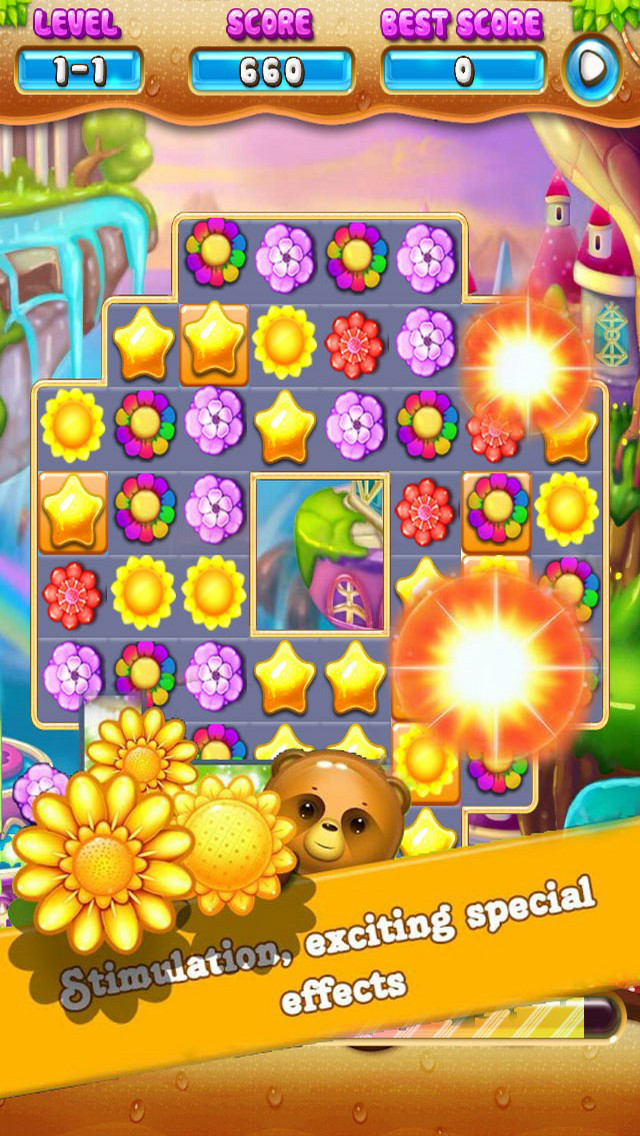 Fantasy Garden Flower: Blosoom Match screenshot 1